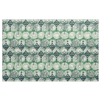 lotus diamond green fabric