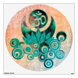 Lotus Energy / Om Lotus - Batik Style Wall Sticker