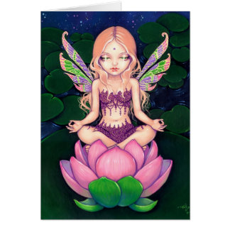 """Lotus Fairy"" Greeting Card"