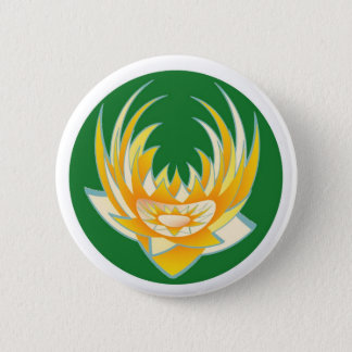 LOTUS Flame in Green Base 2 Inch Round Button