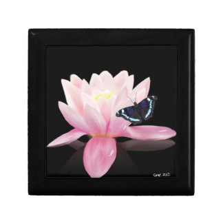Lotus Flower and Butterfly Gift Box