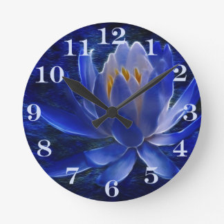 Lotus flower and its meaning round clock
