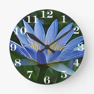 Lotus flower and meaning round clock