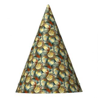 Lotus Flower Art Illustration Party Hat