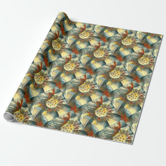 Lotus Flower Art Illustration Wrapping Paper