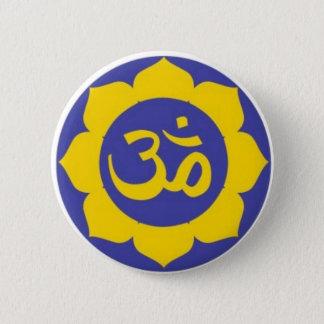 lotus flower - aum meditation 2 inch round button