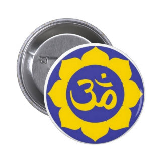 lotus flower - aum meditation 2 inch round button