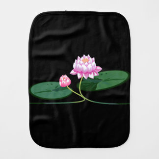 Lotus flower baby burp cloth