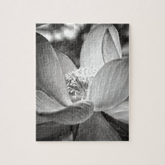 Lotus flower black and white puzzle