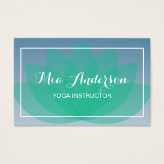 Lotus Flower Blue Green Relax Bussines card