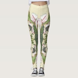 Lotus Flower Butterfly All Over Print Leggings