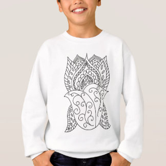 Lotus Flower Coloring DIY Doodles Sweatshirt