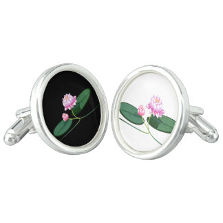 Lotus flower cuff links
