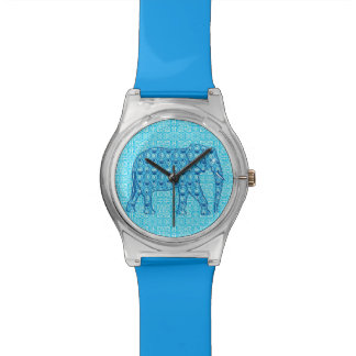 Lotus flower elephant - turquoise watch