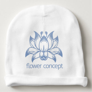 Lotus Flower Floral Design Concept Icon Baby Beanie