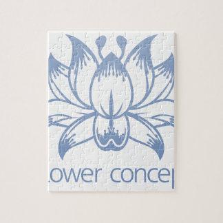 Lotus Flower Floral Design Concept Icon Jigsaw Puzzle