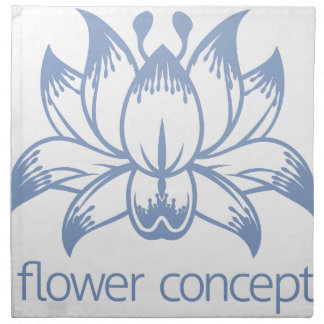 Lotus Flower Floral Design Concept Icon Napkin