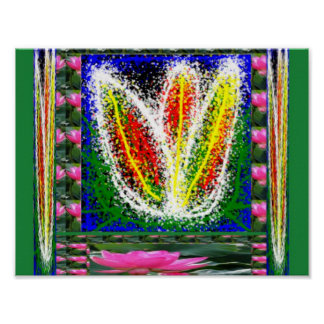 LOTUS flower :  Freehand Art Decorations Poster