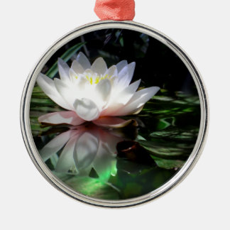 Lotus Flower Gifts Silver-Colored Round Ornament