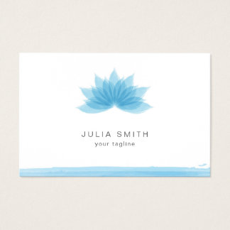 Lotus flower in blue color business card
