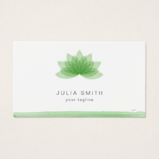 Lotus flower in green color business card