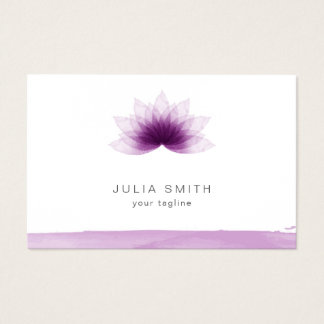 Lotus flower in purple color business card