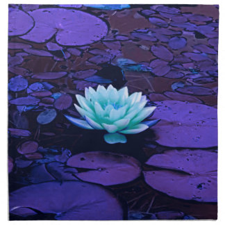 Lotus Flower Magical Purple Blue Turquoise Floral Napkin