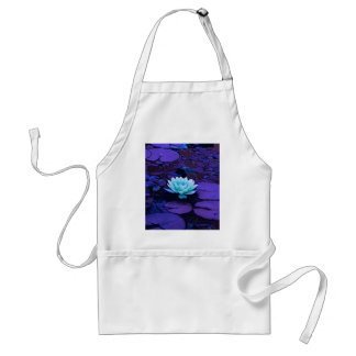 Lotus Flower Magical Purple Blue Turquoise Floral Standard Apron