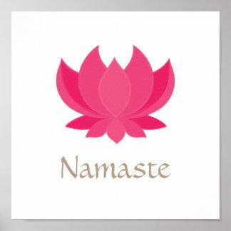 Lotus Flower Meditation Poster