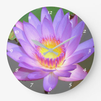 Lotus flower meditation room large clock