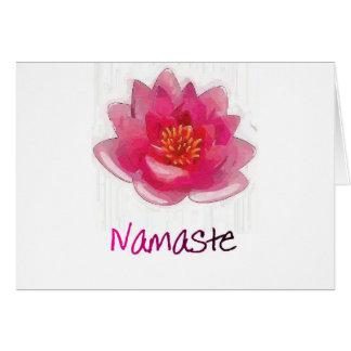 """Lotus Flower """"Namaste"""" Yoga Gifts Greeting Cards"""