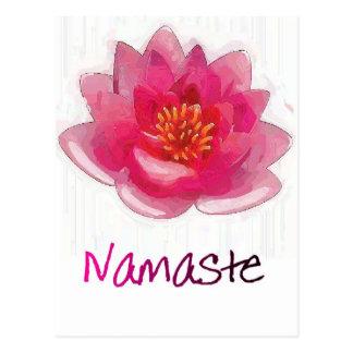 """Lotus Flower """"Namaste"""" Yoga Gifts Postcard"""
