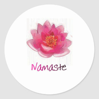 "Lotus Flower ""Namaste"" Yoga Gifts Round Sticker"