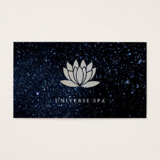 Lotus Flower / Night Sky Business Card