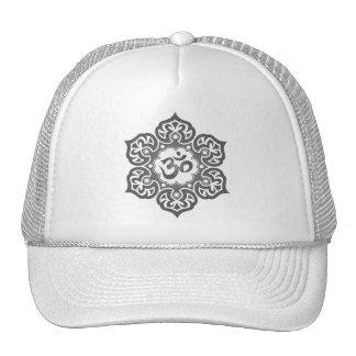 Lotus Flower Om Design - grey Trucker Hat