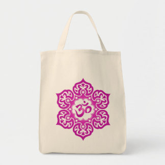 Lotus Flower Om Design - magenta Tote Bag