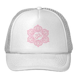 Lotus Flower Om Design - pink Mesh Hat