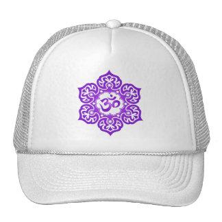 Lotus Flower Om Design - purple Mesh Hat