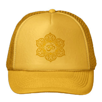 Lotus Flower Om Design - yellow Trucker Hat