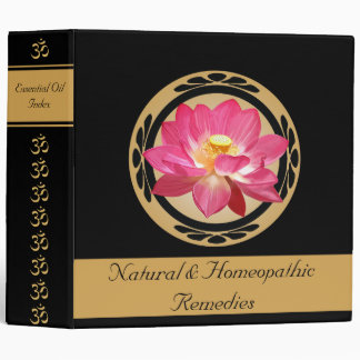 "Lotus Flower Om Essential Oils Signature 2"" Binder"