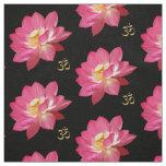 Lotus Flower Om Fabric blk
