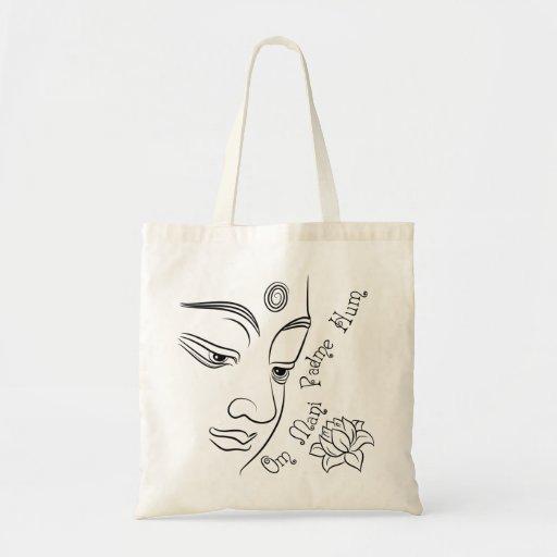 Lotus flower Om Mani Padme Hum Tote Bag
