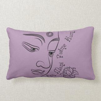 Lotus flower Om Mani Padme Hum Black Pillows