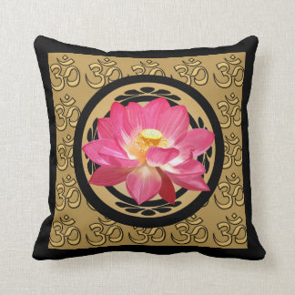 Lotus Flower Om Pillow