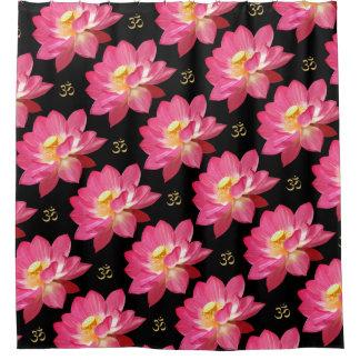 Lotus Flower Om Shower Curtain