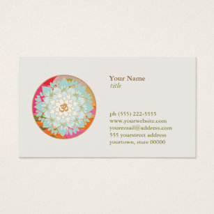 Lotus flower business cards business card printing zazzle ca lotus flower om symbol yoga meditation teacher business card colourmoves