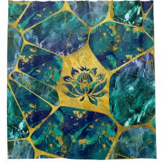 Lotus Flower on Gemstone Crystal Voronoi diagram