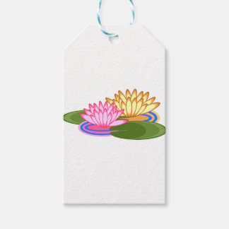 Lotus flower pack of gift tags