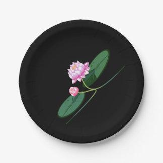 Lotus flower paper plate