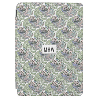 Lotus Flower Pattern custom monogram device covers iPad Air Cover